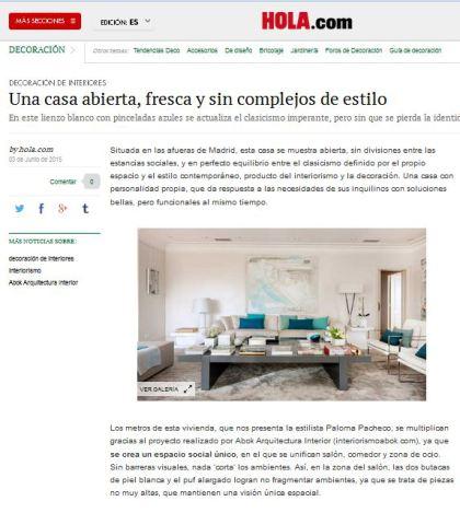 hola.com, abok arquitectura interior, paloma pacheco